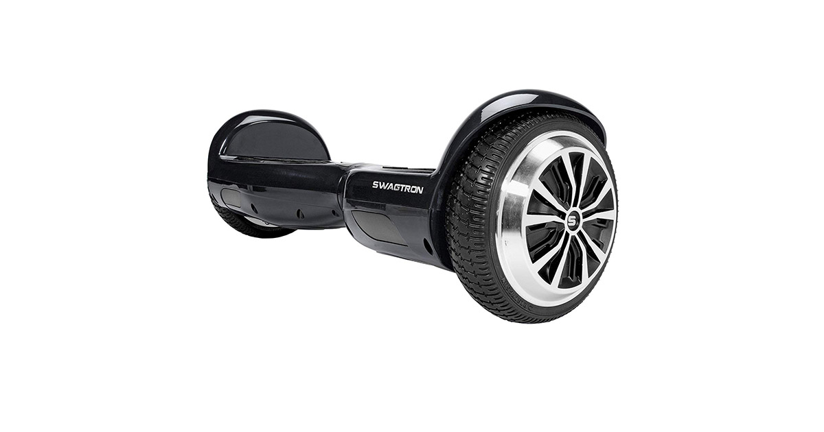 Swagtron Swagboard Pro T1 Black UL 2272 Certified Hoverboard Electric Self Balancing Scooter image